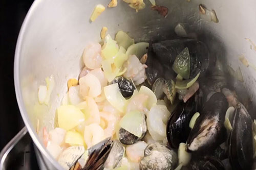 Receta sopa de pescado y marisco